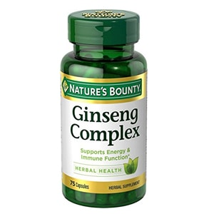 Nature's Bounty Ginseng Complex Supplements